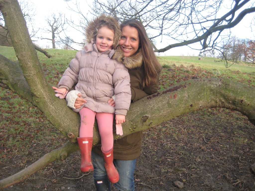 Myla and I at Bretton Sculpture park, Jan 2014 009