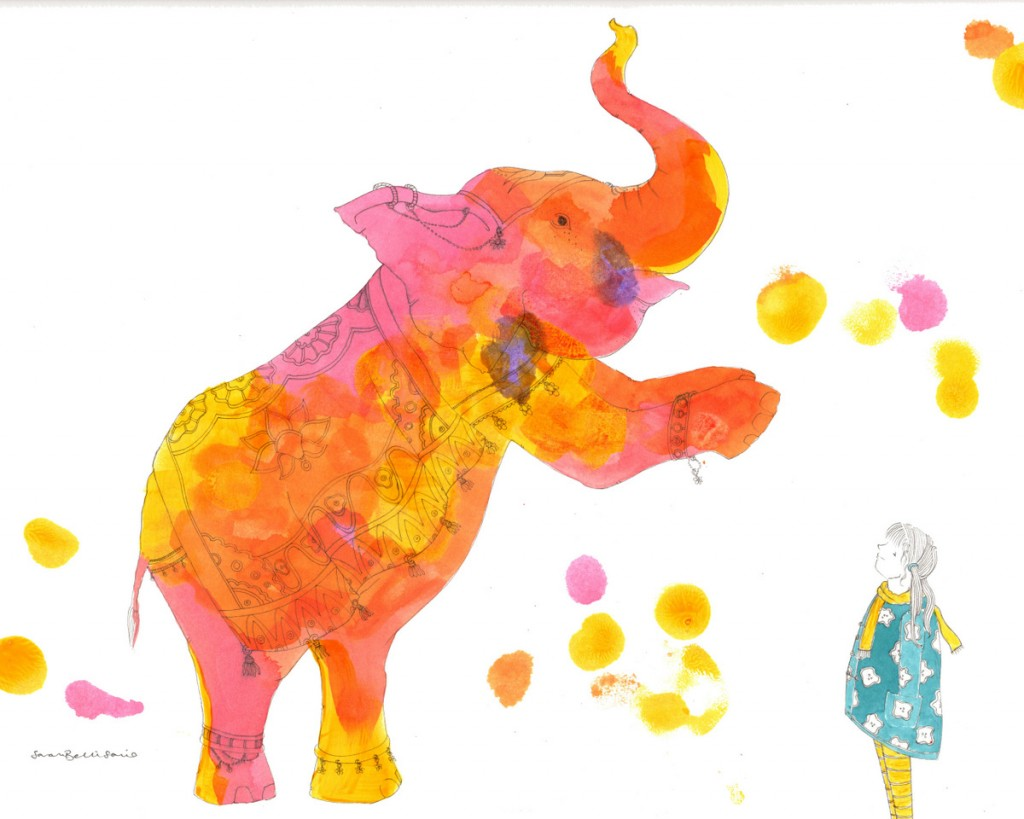 What I saw at the Circus by children's illustrator Sarah Bellisario.