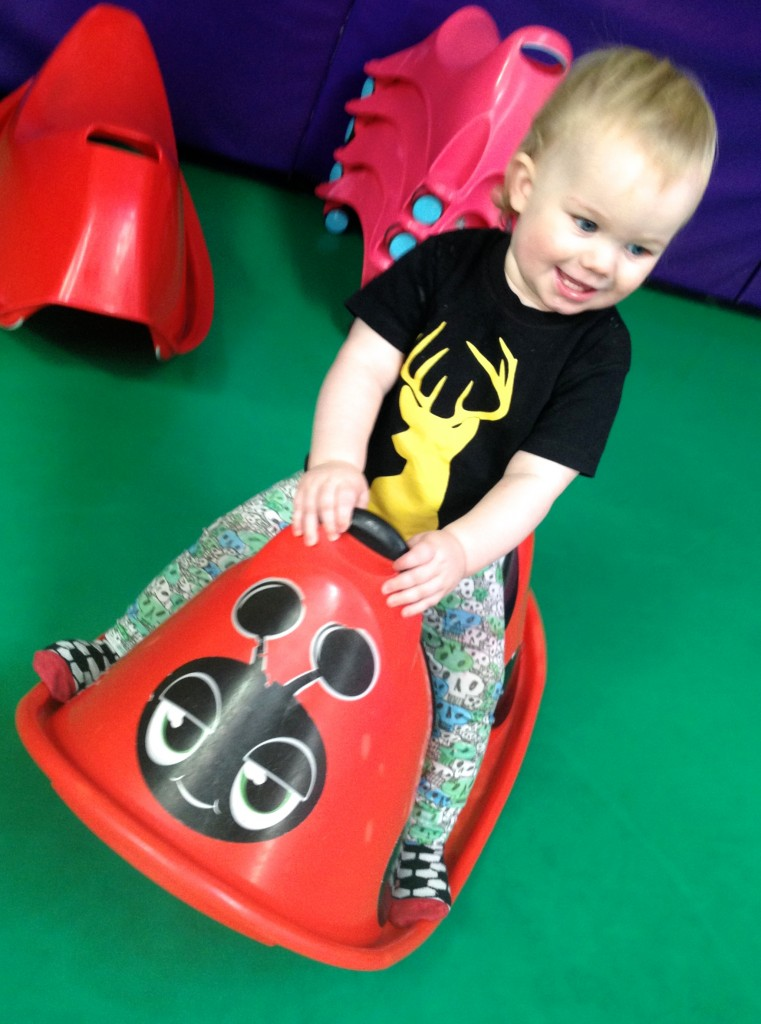 Toby looks so cool in his t-shirt, its great! Its the softest cotton and perfect for these little trips to play areas, especially when teamed with his La Loi leggings!