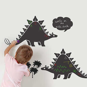 I love the dinosaur version of these chalkboards - Reuben would love them!