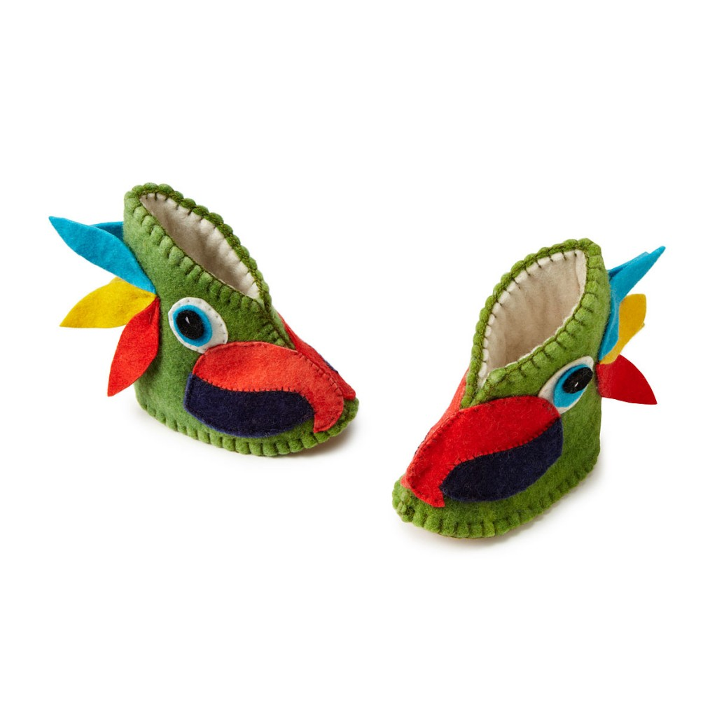 Possibly my favourite. Not only are they bright and funky but they are parrots. For your feet. Que squeals of delight!