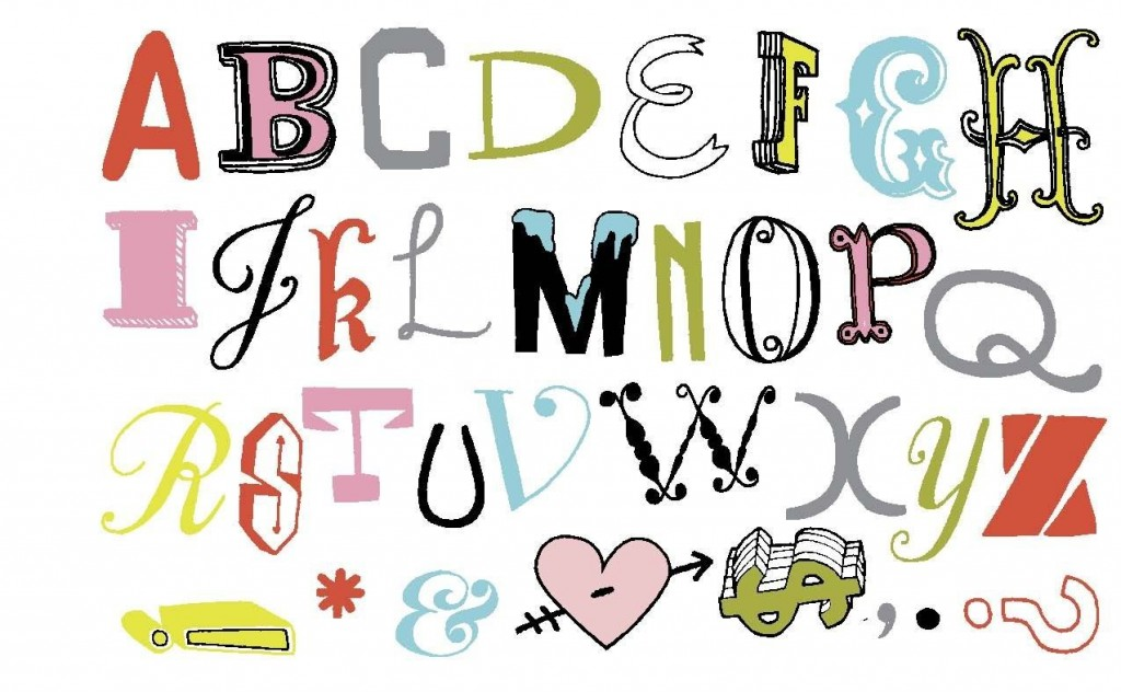 I love the lettering from Julia Rothman - its not babyish or too grown up, but it is fun and vibrant.