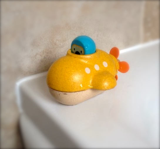 The submarine is so lovely, and who could resist a wooden bath toy?!