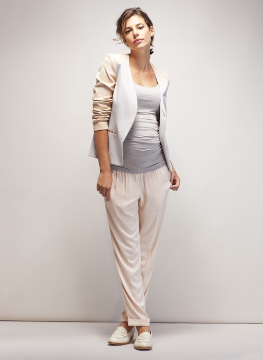 The Ruched Cami is an absolute must for every maternity wardrobe and teamed with this Salina Jacket for SS14 it is just so stylish and elegant.