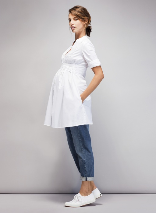 The Libby Maternity Tunic reminds me of a shirt I wore during my pregnancy with Toby - it was one of my staples, and I eventually had to let it go when Reuben spilt curry down the front of it!!