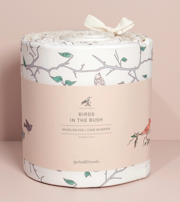 The love the pattern of the birds bumper - so sweet and perfectly neutral to mix with other designs.