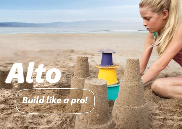 Alto - build your sandcastles like a pro, you can just imagine all the Dads staring on jealously can't you?