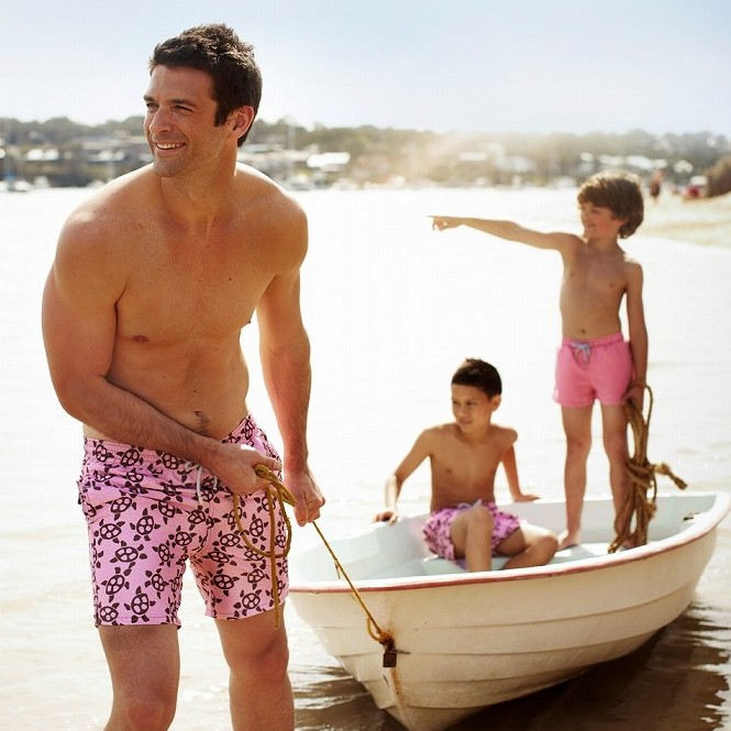 9e647f7599 Matching father & son swimwear shorts from Tom & Teddy – perfect for  Father's Day!
