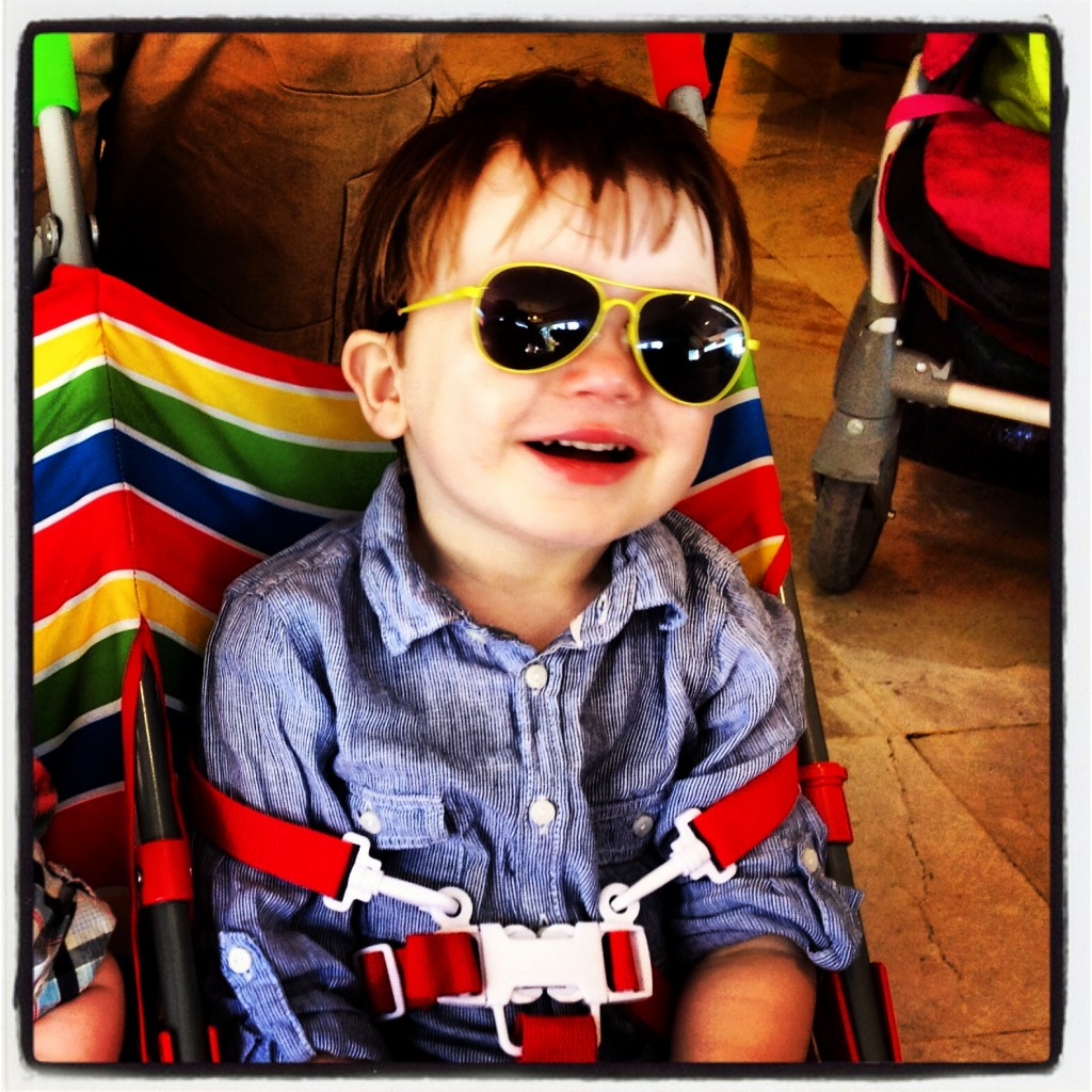 3b93f64c6e16 Enjoying a recent family trip abroad with his ZooBug glasses. The glasses  offer the same ...