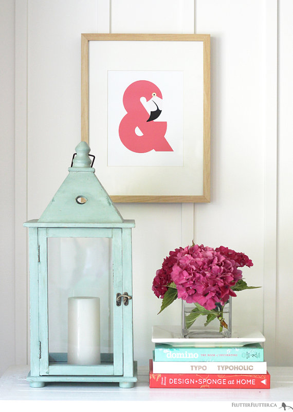 Ampersand typography nursery art prints for your home for Ampersand decor