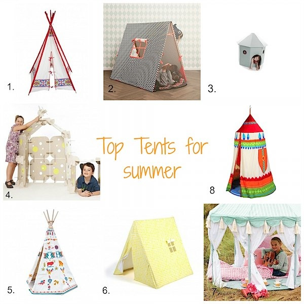 Stylish tents for summer from Toby & Roo :: daily inspiration for stylish parents and their kids