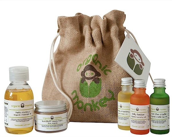 Organic Monkey gift set via Toby & Roo :: daily inspiration for stylish parents and their kids.