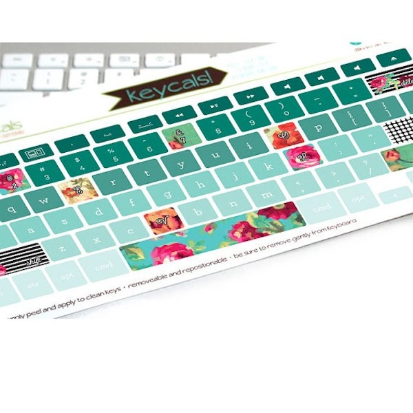 Keyboard decals from Kidecal via Toby & Roo :: daily inspiration for stylish parents and their kids.