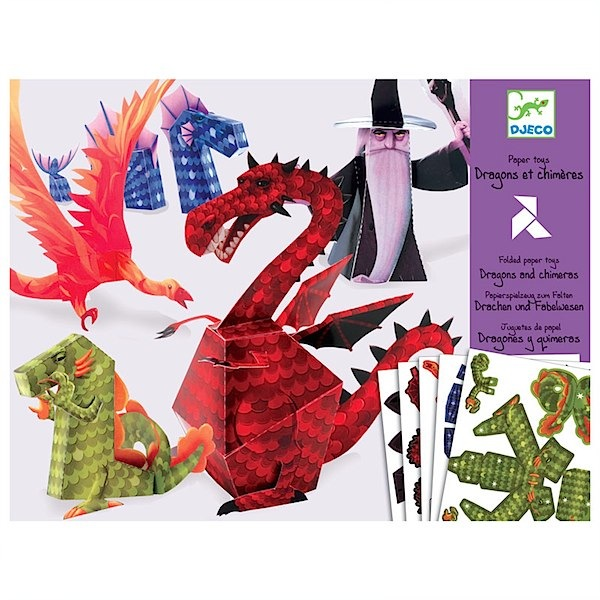 Djeco Origami dragons via Toby & Roo :: daily inspiration for stylish parents and their kids.