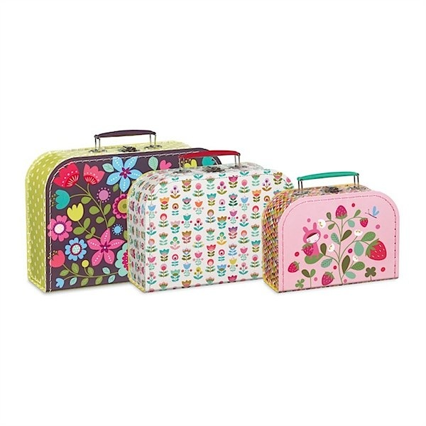 Mini Labo Suitcase sets via Toby & Roo :: daily inspiration for stylish parents and their kids.