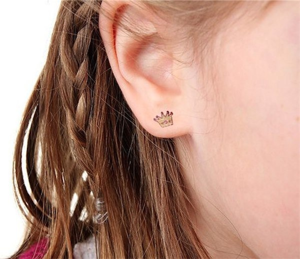 b*INK'd temporary earring tattoos via Toby & Roo :: daily inspiration for stylish parents and their kids.