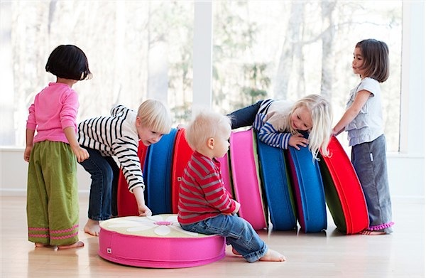 Floor cushions from Cheeky Monkey Home via Toby & Roo :: daily inspiration for stylish parents and their kids.