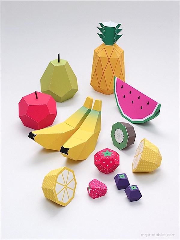 Fruit print out templates from Mr. Printables via Toby & Roo :: daily inspiration for stylish parents and their kids.