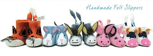 Sew Heart Felt Slippers via Toby & Roo :: daily inspiration for stylish parents and their kids.