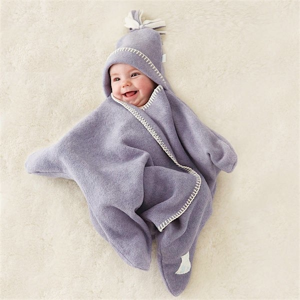 Baby Star fleece wrap by Tuppence & Crumble via Toby & Roo :: daily inspiration for stylish parents and their kids.