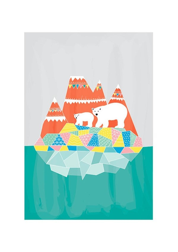 Dekanimal artwork prints via Toby & Roo :: daily inspiration for stylish parents and their kids.