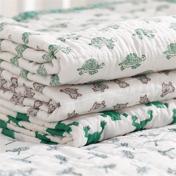Moochicbaby quilted blankets via Toby & Roo :: daily inspiration for stylish parents and their kids.