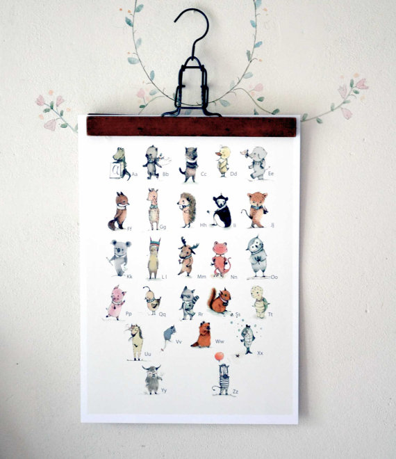 Traditional nursery art work from Paola Zakimi via Toby & Roo :: daily inspiration for stylish parents and their kids.