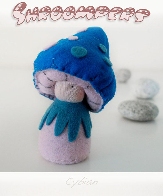 Shroompers, organic handmade toys via Toby & Roo :: daily inspiration for stylish parents and their kids.
