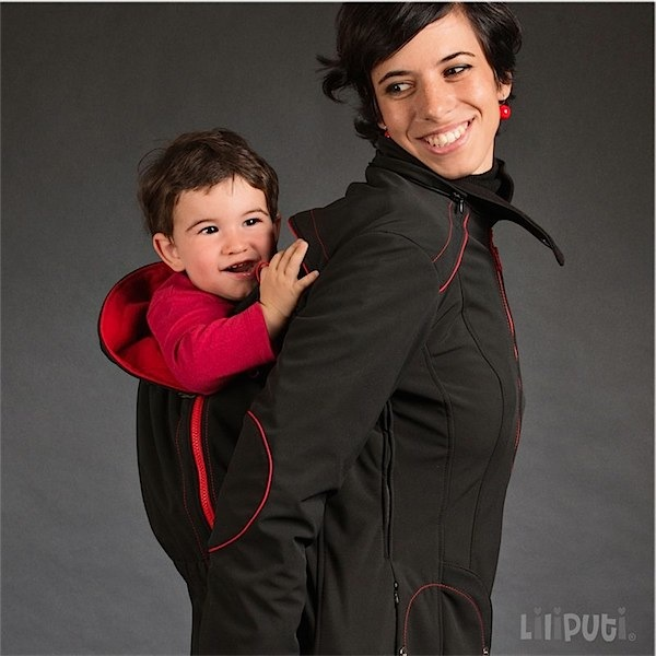 The baby wearing/mama coat from Liliputi via Toby & Roo :: daily inspiration for stylish parents and their kids.