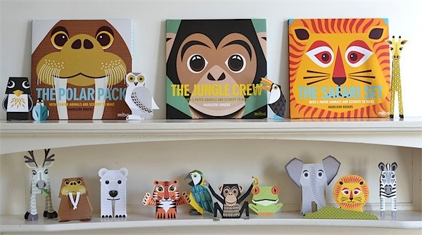 The Animal Set books from MIBO via Toby & Roo :: daily inspiration for stylish parents and their kids.