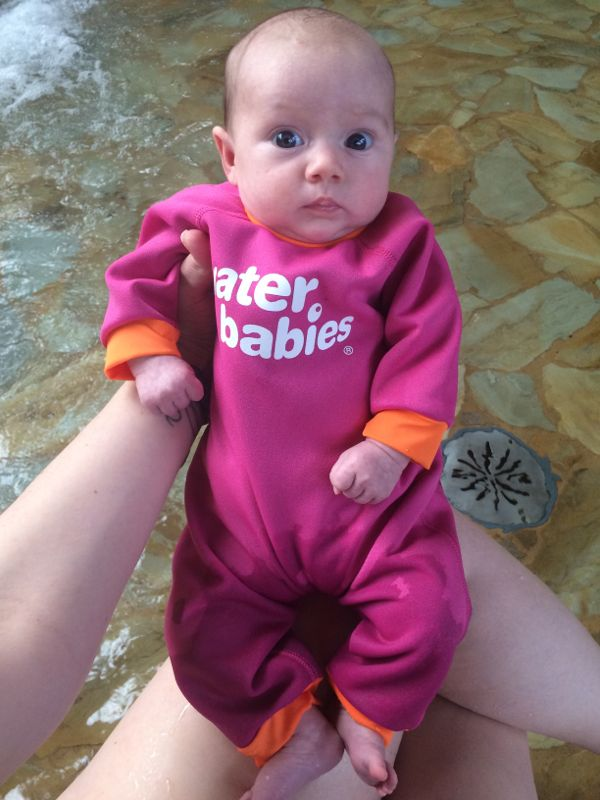 Fleece lined wetsuit from Water Babies via Toby & Roo :: daily inspiration for stylish parents and their kids.