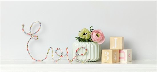 Dalring little name signs from Little Cloud via Toby & Roo :: daily inspiration for stylish parents and their kids.