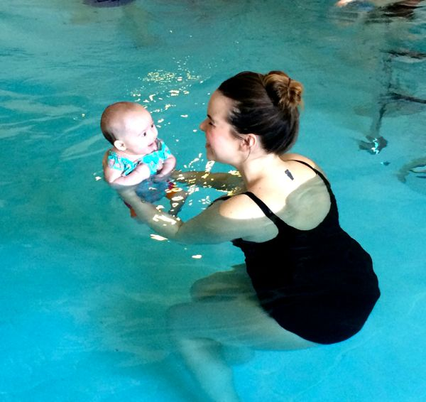 I just love this picture of Edith - look at that smile! She truly loves the water, and the classes are so much fun!