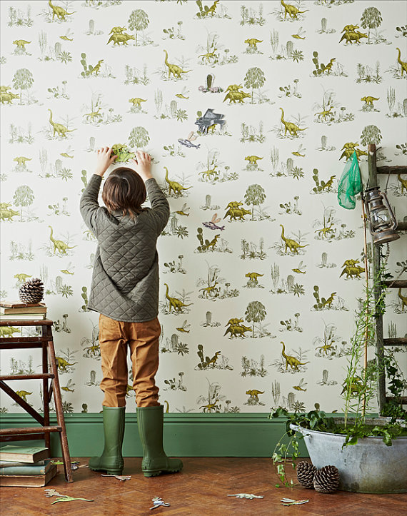 Magnetic wallpaper for kids from Sian Zeng via Toby & Roo :: daily inspiration for stylish parents and their kids.