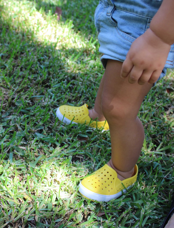 Gummie slip on shoes that won't rub your child's feet via Toby & Roo :: daily inspiration for stylish parents and their kids.