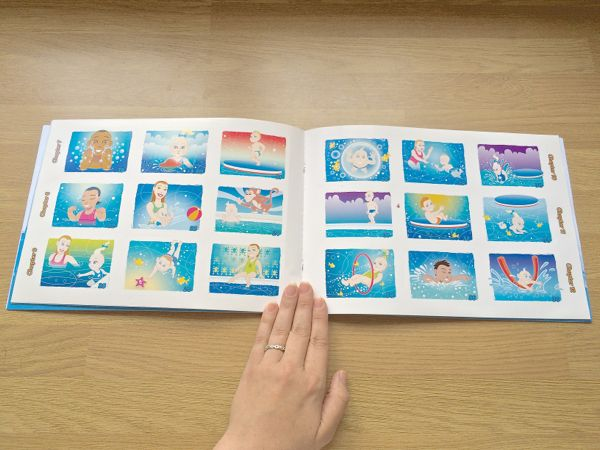 A new splashy style of Memory Book from Water Babies via Toby & Roo :: daily inspiration for stylish parents and their kids.