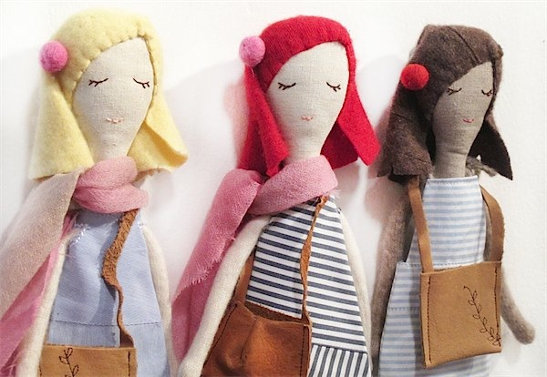 Limited edition Cashmere rag dolls from Snuggly Ugly via Toby & Roo :: daily inspiration for stylish parents and their kids.
