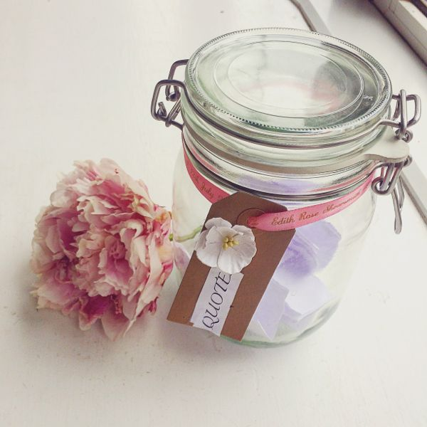 DIY quote jars, for saving those precious words from your kids via Toby & Roo daily inspiration for stylish parents and their kids.
