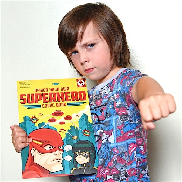 The perfect gift for the Superhero obsessed creative child in your life via Toby & Roo :: daily inspiration for stylish parents and their kids.