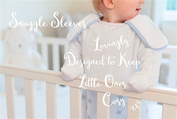 Give the gift of sleep to new parents with Snuggle sleeves via Toby & Roo :: daily inspiration for stylish parents and their kids.