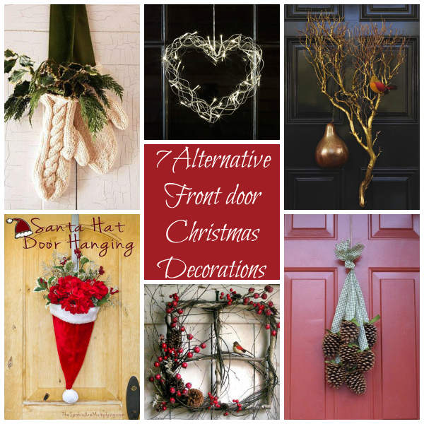 7 alternative ideas for decorating your front door this christmas - How To Decorate Your Door For Christmas