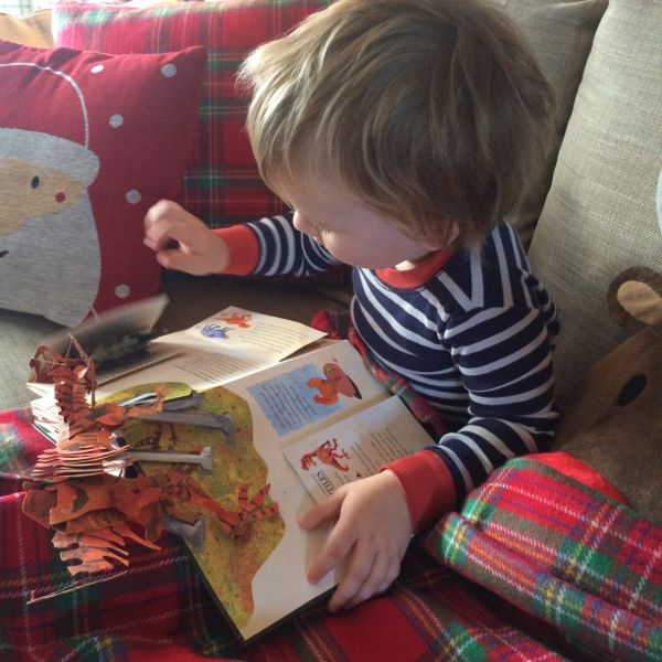 The ultimate dinosaur pop up book via Toby & Roo :: daily inspiration for stylish parents and their kids.