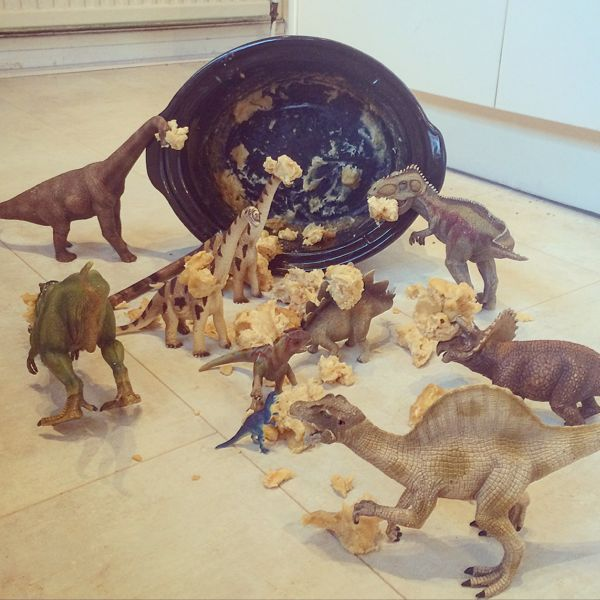 Dinovember by Toby & Roo on instagram via Toby & Roo :: daily inspiration for stylish parents and their kids.