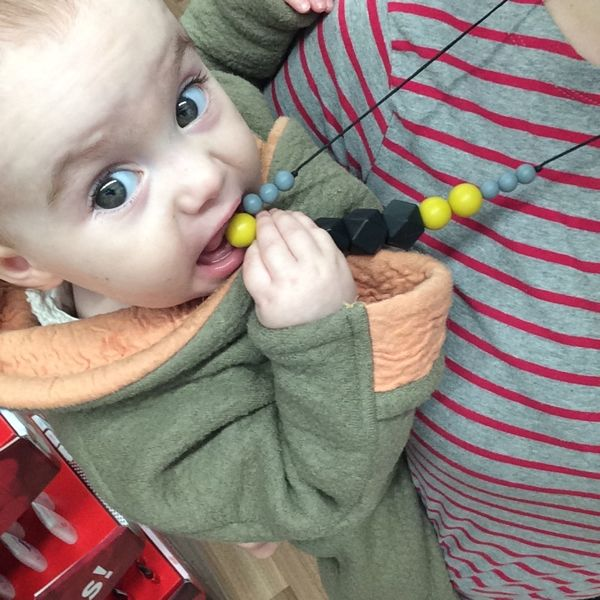 Stunning, designer teething necklaces from Bo & Bel that look good on you AND help baby.