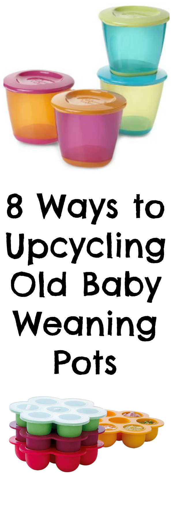 8 ways to up cycle your baby weaning pots, life hacks for mum via Toby & Roo :: daily inspiration for stylish parents and their kids.