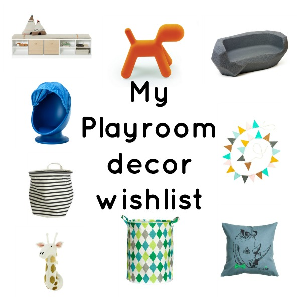 My playroom decor wish list featuring NEST, NUBIE, H&M and IKEA via Toby & Roo :: Daily inspiration from stylish parents and their kids.