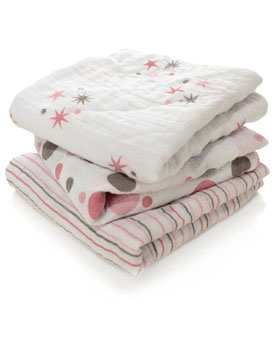 Adorable patterns, super soft and durable - Musy are my absolute favourite muslin squares.