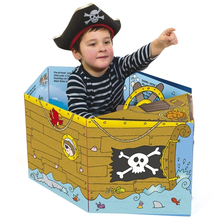 This book converts into a play mat and a sit in pirate ship… yep, its that cool!