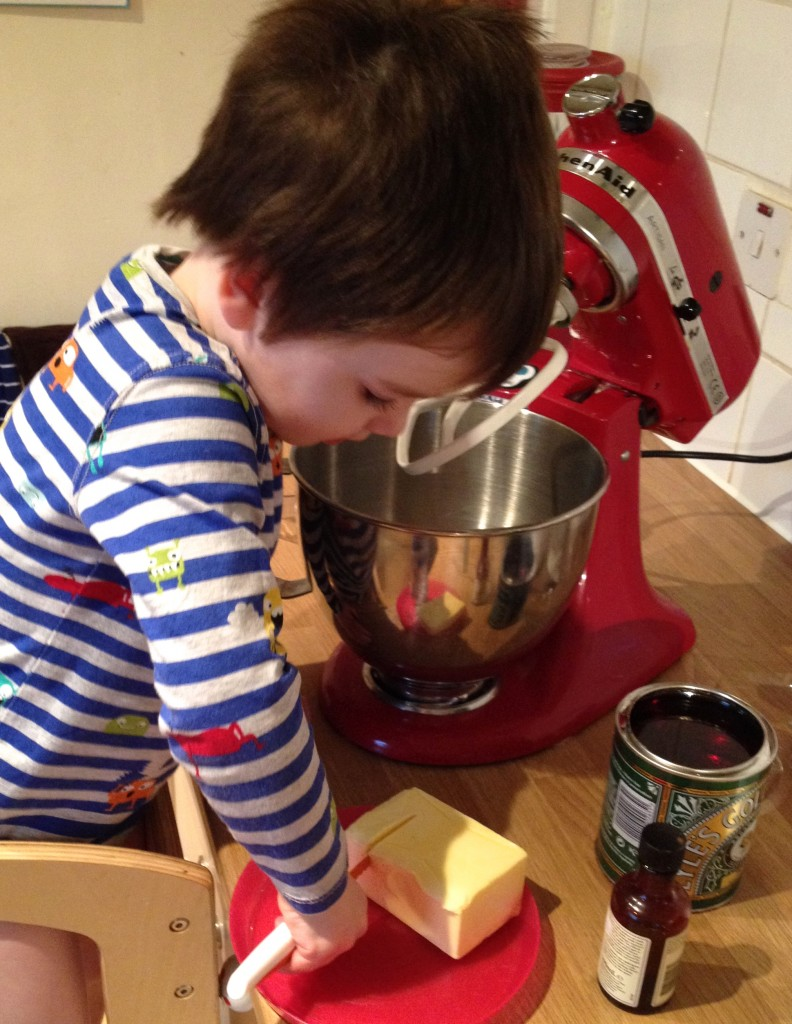 Roo loves helping in the kitchen and now he has his kiddikutter knife he feels he has even more independence.