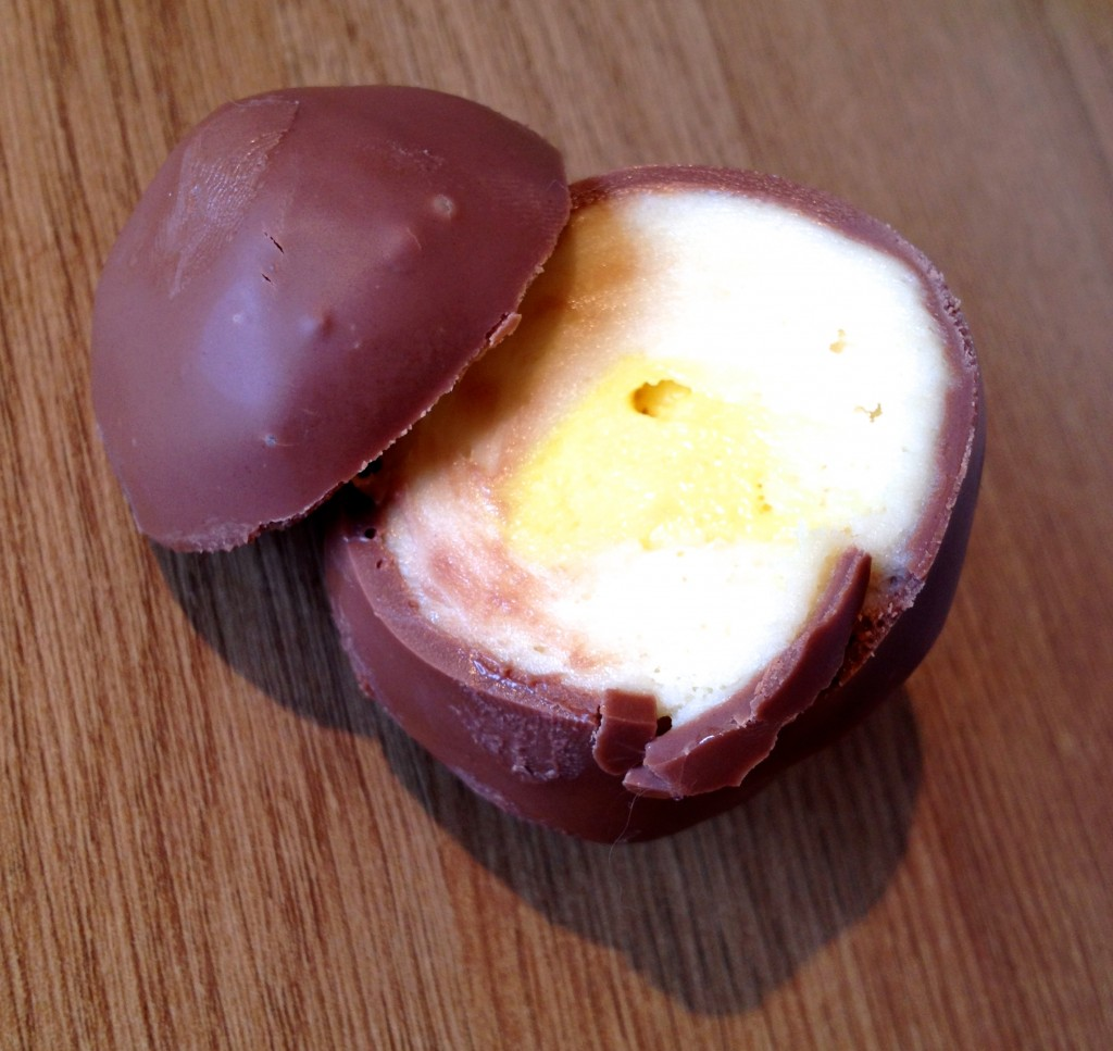 Just like a Cadbury's Creme Egg!